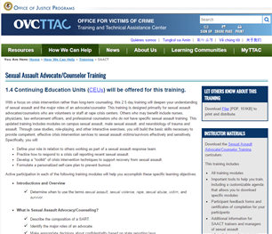 Image for Sexual Assault Advocate/Counselor Training