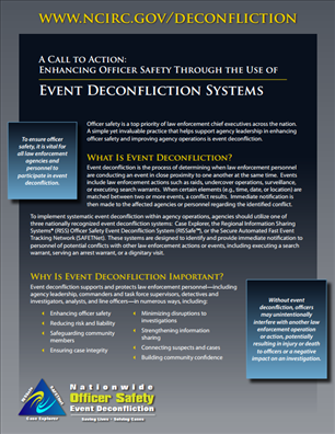 Image for A Call to Action: Enhancing Officer Safety Through the Use of Event Deconfliction Systems
