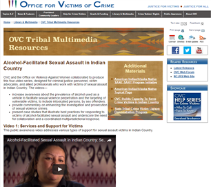 Image for Alcohol-Facilitated Sexual Assault in Indian Country