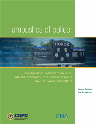 Image for Ambushes of Police: Environment, Incident Dynamics, and the Aftermath of Surprise Attacks Against Law Enforcement