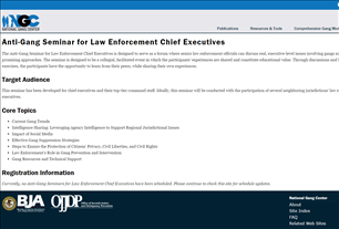 Image for Anti-Gang Seminar for Law Enforcement Chief Executives - National Gang Center (NGC)