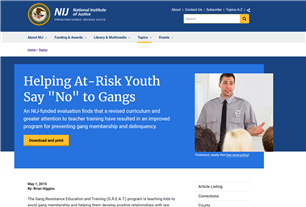 """Image for Helping At-Risk Youth Say """"No"""" to Gangs"""