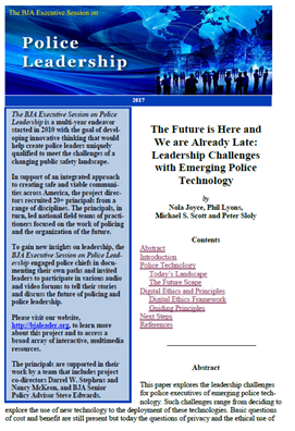 Image for The Future is Here and We are Already Late: Leadership Challenges with Emerging Police Technology