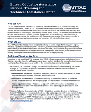 Image for BJA National Training and Technical Assistance Center (NTTAC)