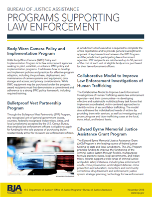 Image for BJA's Programs Supporting Law Enforcement