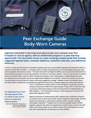 Image for Peer Exchange Guide: Body-Worn Cameras