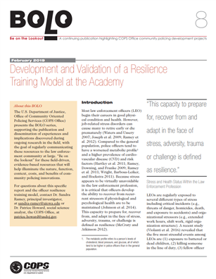 Image for Development and Validation of a Resilience Training Model at the Academy