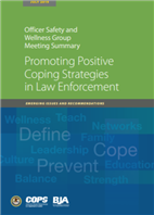 Image for Officer Safety and Wellness Group Meeting Summary: Promoting Positive Coping Strategies in Law Enforcement