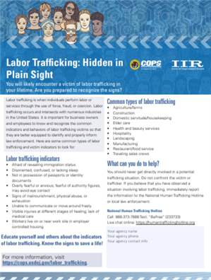 Image for Labor Trafficking:  Hidden in Plain Sight