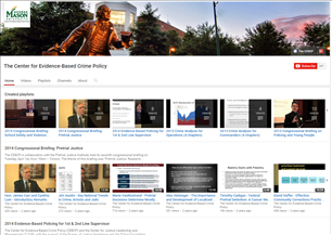 Image for Center for Evidence-Based Crime Policy, George Mason University Video Library