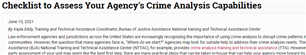 Image for Checklist to Assess Your Agency's Crime Analysis Capabilities
