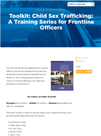 Image for Child Sex Trafficking: A Training Series for Frontline Officers