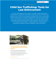 Image for Child Sex Trafficking Toolkit for Law Enforcement