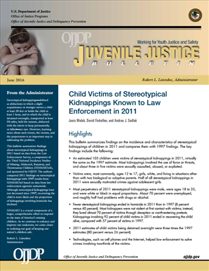 Image for Child Victims of Stereotypical Kidnappings Known to Law Enforcement in 2011