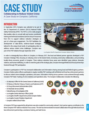 Image for PSP Case Study: Collaborating to Reduce Violent Crime in Compton, California
