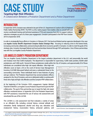 PSP Case Study: Compton, California Probation cover page