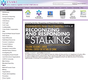 Image for Connecting the Dots: Recognizing and Responding to Stalking