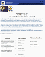 Image for Crime Analysis for Chief Executives Building Analytical Capacity Workshop