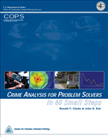 Image for Crime Analysis for Problem Solvers In 60 Small Steps