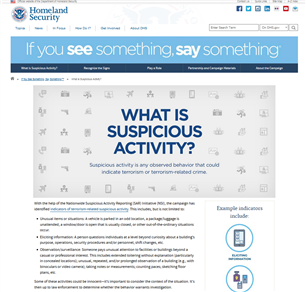 Image for If You See Something, Say Something: What Is Suspicious Activity?
