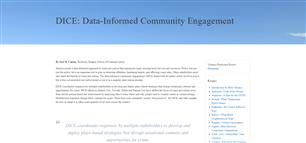 Image for DICE: Data-Informed Community Engagement