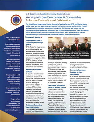 Image for Working with Law Enforcement & Communities to Improve Partnerships and Collaboration