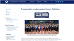 Image for U.S. Department of Transportation: Transportation Leaders Against Human Trafficking