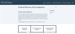 Image for FBI Crime Data Explorer