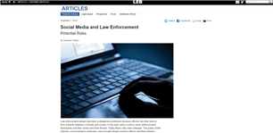 Image for FBI Law Enforcement Bulletin: Social Media and Law Enforcement Potential Risks