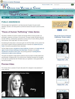 Image for Faces of Human Trafficking