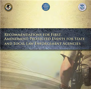 Image for Recommendations for First Amendment-Protected Events for State and Local Law Enforcement Agencies