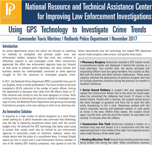 Image for Using GPS Technology to Investigate Crime Trends