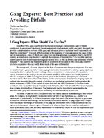 Image for Gang Experts: Best Practices and Avoiding Pitfalls