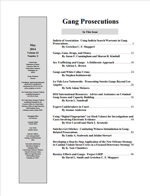 Image for Gang Prosecutions, United States Attorneys' Bulletin