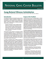 Image for Gang-Related Witness Intimidation - National Gang Center Bulletin