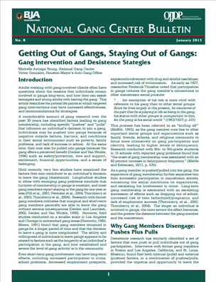 Image for Getting Out of Gangs, Staying Out of Gangs: Gang intervention and Desistence Stategies