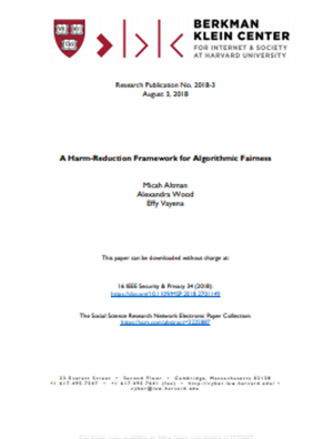 Image for A Harm-Reduction Framework for Algorithmic Fairness