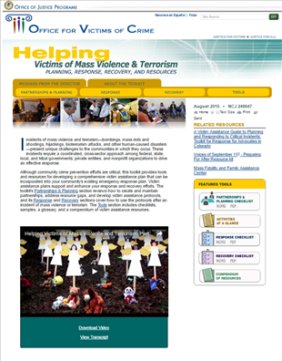 Image for Helping Victims of Mass Violence and Terrorism - OVC Toolkit