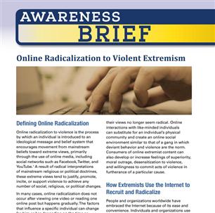 Image for Awareness Brief: Online Radicalization to Violent Extremism