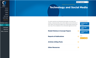 Image for Technology and Social Media - IACP Resources