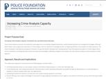 Image for Increasing Crime Analysis Capacity