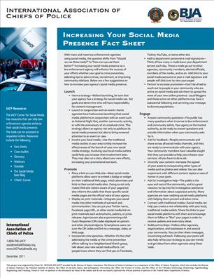 Image for Increasing Your Social Media Presence Fact Sheet
