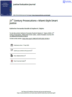 Image for 21st Century Prosecutions—Miami-Style Smart Justice