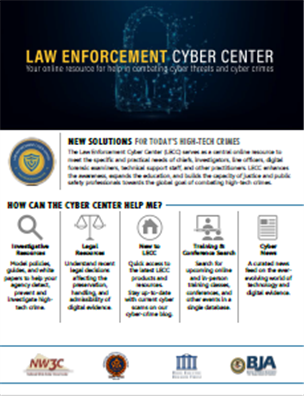 Image for Law Enforcement Cyber Center Flyer