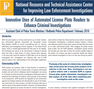 Image for Innovative Uses of ALPR to Enhance Criminal Investigations