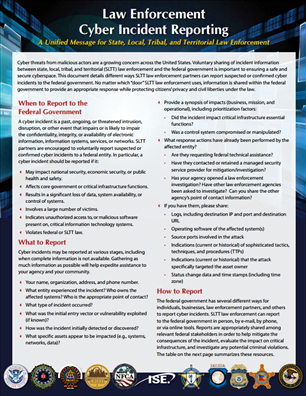 Image for Law Enforcement Cyber Incident Reporting