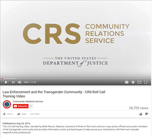 Image for Law Enforcement and the Transgender Community - CRS Roll Call Training Video