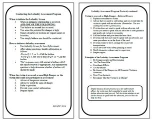 Image for Lethality Assessment Program Protocol Card