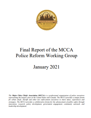 Image for Final Report of the MCCA Police Reform Working Group