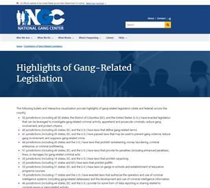 Image for Highlights of Gang-Related Legislation